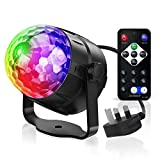Party Lights, Gvoo Sound Activated DJ Disco Lights Rotating Ball Lights 5W 7 Modes RGB LED Stage Lights with...