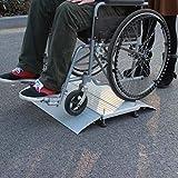 JLXJ Rampas Rampas de Umbral/Rampa para Silla de Ruedas, para la Transición Pasos de Las Escaleras de Las Puertas de Entrada, Portátil de Aluminio Rampas para Discapacitados de Movilidad