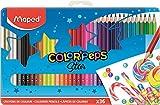 Maped Color 'Peps–Caja metálica de 36 lápices de colores de madera. MAPED...