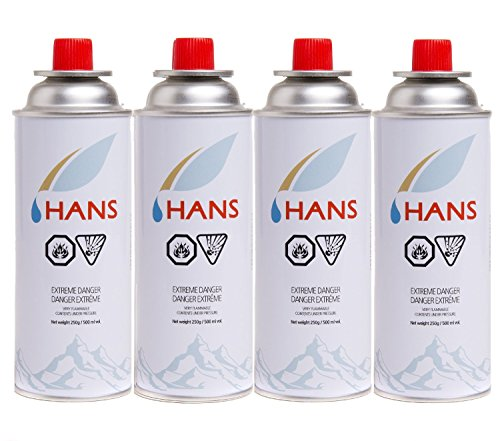 HANS Butane Gas Canister - Pack of 8
