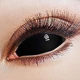 ARICONA - Lentillas de contacto (lentes de contacto negras, 22 mm, 2 unidades)
