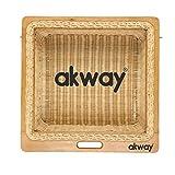 AKWAY Wicker Basket For Modular Kitchen | Pull Out Basket for Onion, Potato (22.5 W x 20 L x 6H,...