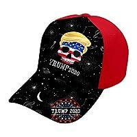 A66 ベースボールキャップ 帽子 レッド キャップ メンズ 2020 トランプ スカル 野球帽 スナップバック 調整可能 つば広 硬ツバ 立体 曲 野球帽 日よけ