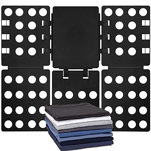 MINI-T Shirt Folding Board t Shirts Clothes Folder Durable Plastic Laundry folders Folding Boards,Black