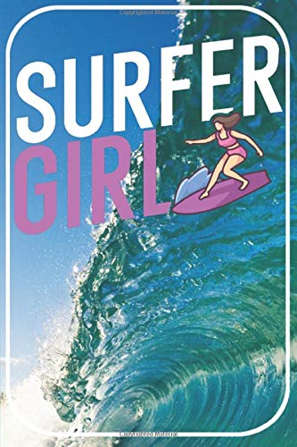 Surfer girl: Surfing Notebook for Surfer. 120 pages dotted. For notes, sketches, drawings, as a calendar, diary or as a gift.