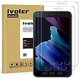 ivoler 2 Unidades Protector de Pantalla para Samsung Galaxy Tab Active 3 / Samsung Galaxy Tab Active 2 8.0 Pulgadas, Cristal Vidrio Templado Premium, 9H Dureza, Antiarañazos, Sin Burbujas