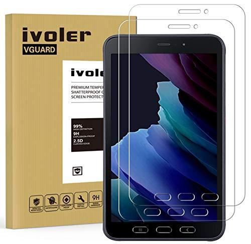 ivoler 2 Stücke Panzerglas Schutzfolie für Samsung Galaxy Tab Active 2 8.0 Zoll, 9H Festigkeit Panzerglasfolie, Anti-Kratzen Folie, Anti-Bläschen Bildschirmschutzfolie, Hülle fre&lich