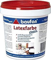 baufan latex white classic 750 ml - latex paint