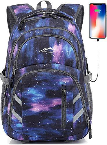 Rucksack für Schule, College, Studenten, Laptop, Büchertasche, Reisen, Business, mit USB-Anschluss