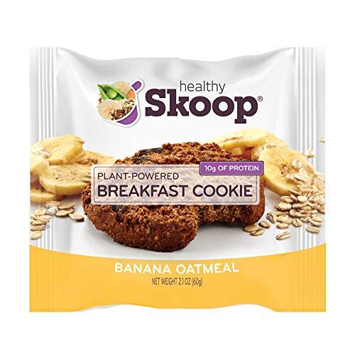 Healthy Skoop Breakfast Cookie, Banana Oatmeal, 2.1 Ounce, Banana Oatmeal, 12 Count
