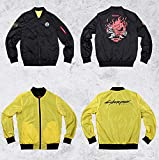 K-Y YK Cyberpunk 2077 Jacket Short Coat Male COS Kojima Hideo with The Game Clothing Sweater (L)