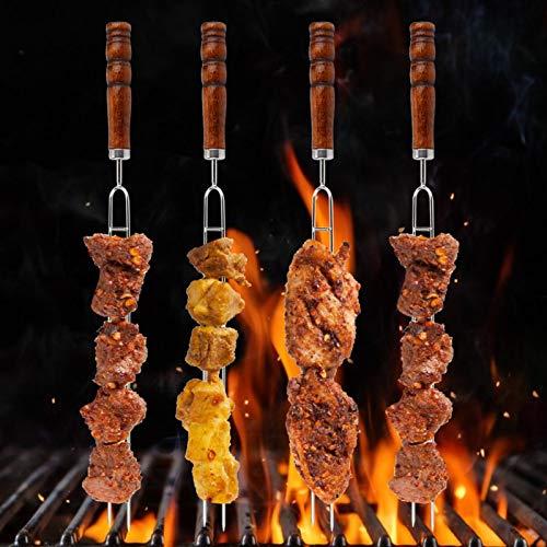 Aoutecen Cepillo de Tenedor para Barbacoa de Acero Inoxidable Prueba de óxido, Kit de Tenedor para Barbacoa, Herramienta fácil de Llevar al Restaurante para la Cocina casera