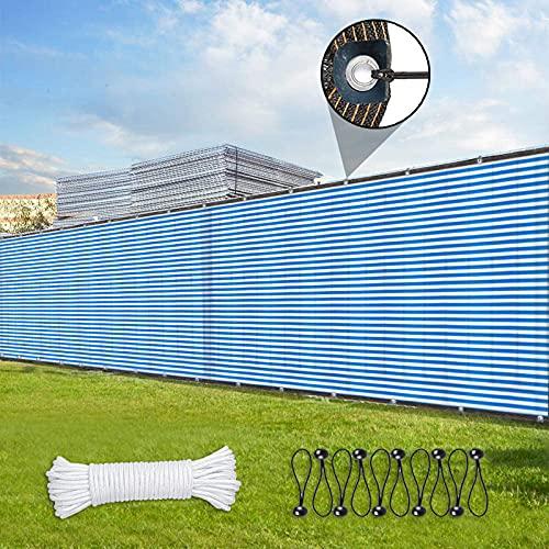 MIAOSHA Malla Sombreo Negra 3x19m Multiusos para Cubrir Vallas Malla de Ocultacion Jardin Marron para protección de la privacidad en el balcón, la terraza, el jardín Azul Blanco