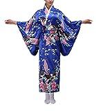 Ropa para La Mujer Japonesa Tradicional Vestido De Trajes De Ropa Fiesta Baño Kimono Cosplay Estilo De Vestir De Moda De Verano Playa Modern Trajes De Baño (Color : Blau, One Size : S)