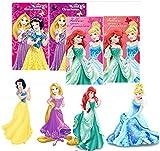 Set di 2 asciugamani per bambini, per viso e mani, con motivo Principesse Disney, 35 x 65 ...