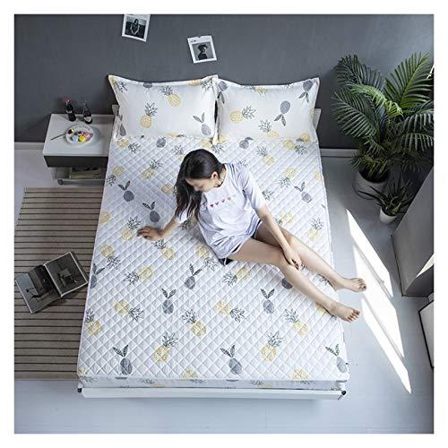 QIANGU Funda protectora de colchón con cremallera, transpirable, fácil de lavar, no resistente al agua para dormitorios (color: D, tamaño: 180 x 220 + 15 cm)