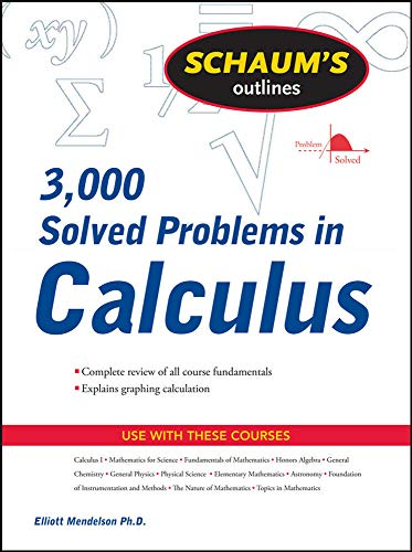 Schaum's 3,000 Solved Problems in Calculus Front Cover