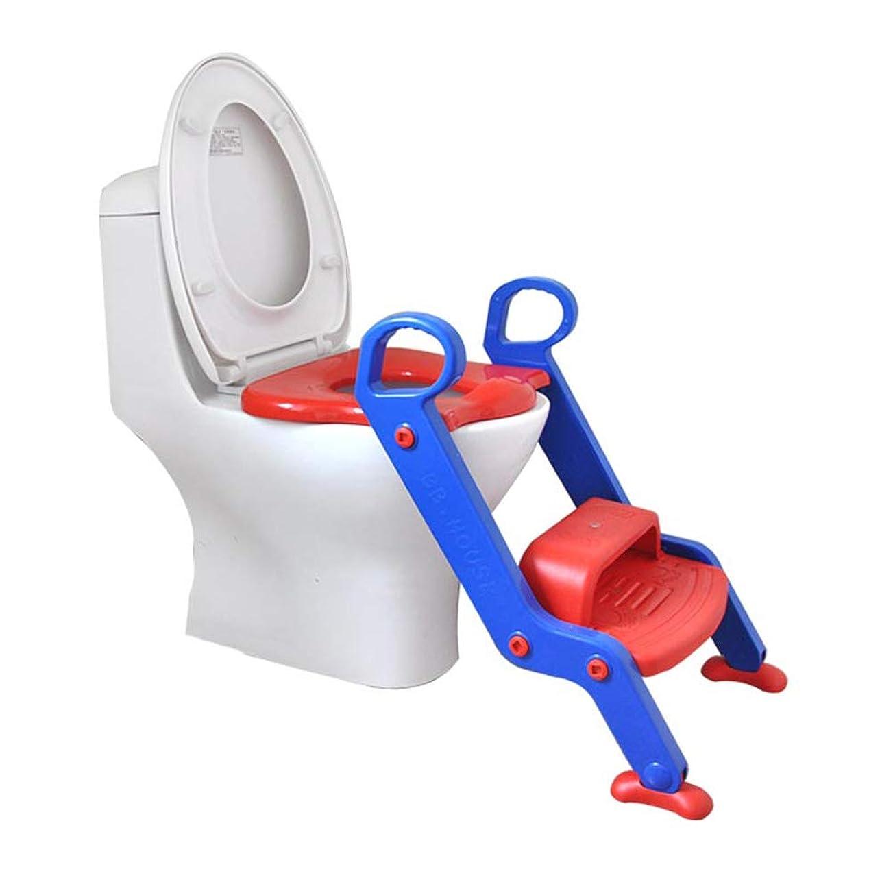 オペラ水素ワーカー階段、ステップラダーと幼児のトイレトレーニングシートチェア付きトイレトレーニングの便座、非は調節可能なスリップ、男の子と女の子のためのダブルアームレスト、スプラッシュガード、