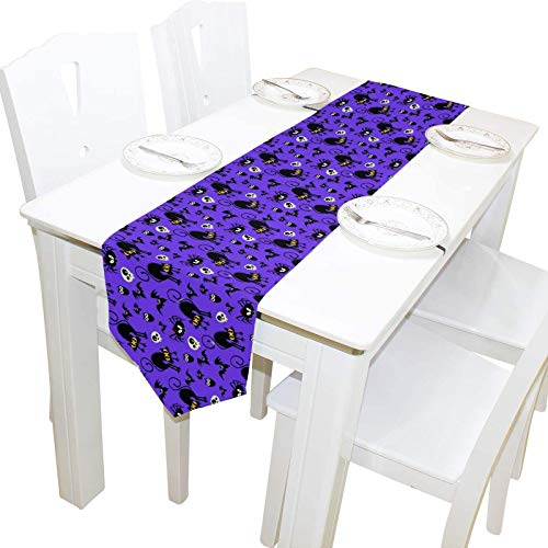 Fairy-Margot Double-Sided Christmas Table Runner 13 x 90 Inches Long,Table Cloth Runner for Wedding Party Holiday Kitchen Dining Home Everyday Decor-13x90-