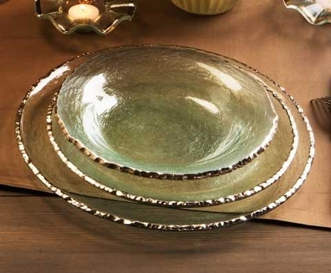 Annieglass Edgey 9 In. Soup Bowl Gold