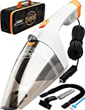 Portable Car Vacuum Cleaner: High Power Handheld Vacuum w/LED Light...