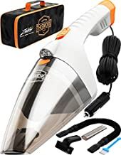 ThisWorx Car Vacuum Cleaner - LED Light, Portable, High Power Handheld Vacuums w/ 3 Attachments, 16 Ft Cord & Bag - 12v, Auto Accessories Kit for Interior Detailing - White