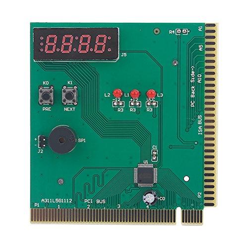 Tosuny Tarjeta de 4 Dígitos de la Placa Madre PCI PC Analizador de Diagnóstico Probador Post de Placa Base Analizador Código para PC de la computadora