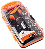 Ratchet Screwdriver Set. Magnetic Screw Driver Bits. T Handle Bar Socket Wrench. Torx, Phillips, Star, Flathead, Hex, Pozi drive selection. Cr-V
