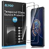 elyco vetro temperato pellicola prottetiva compatibile con asus zenfone 8 flip[2 pezzi], ultra resistente, 9h durezza, anti-impronte, anti graffio, senza bolle screen protector