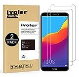 ivoler [2 Unidades] Protector de Pantalla para Huawei Honor 7C / Huawei Y7 2018 / Huawei Y7 Prime 2018, Cristal Vidrio Templado Premium