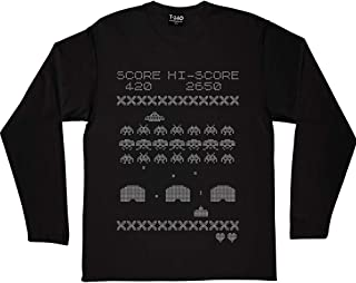 Space Invaders Knitting Pattern Long-Sleeved T-Shirt
