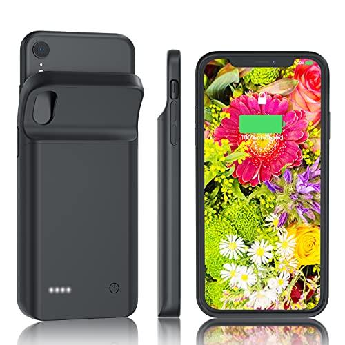HUOBAO Custodia per batteria per iPhone XR, [6000mAh] Custodia di ricarica per iPhone, custodia protettiva portatile, batteria ricaricabile estesa per iPhone XR (6.1 pollici)