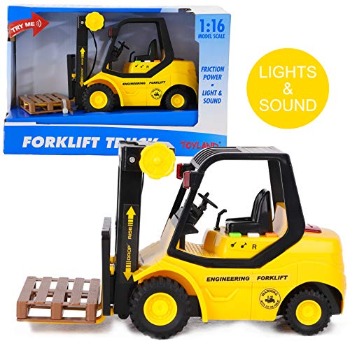 Toyland® 23 cm Pallettruckconstructiespeelgoed met Licht en Geluid