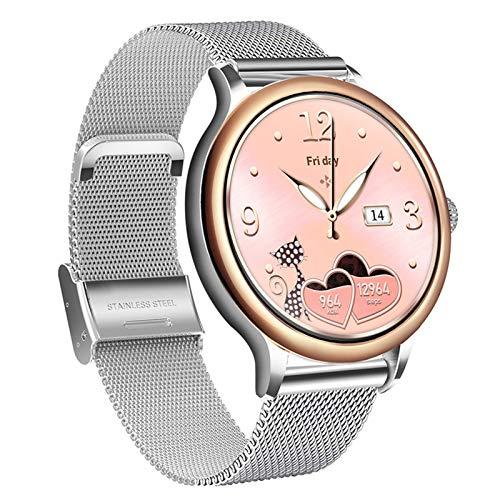 JIAJBG Lady Smart Watch para Mujeres, Recordatorio de Período Menstrual, Ip67 Impermeable, con Ritmo Cardíaco en Sangre Monitoreo de Sueño de Oxígeno Calorie Podómetro Ejercicio Tra