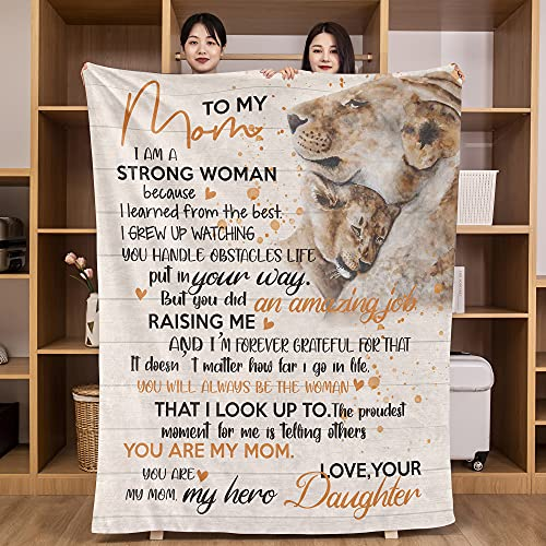 Lion Throw Blanket Gifts for Mom from Daughter Mother Day Birthday...