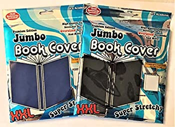 It s Academic Premium Edition - Jumbo/XXL - Super Stretch Book Cover Double Pack - Fits 10 X 15 Inch Textbooks  Blue & Black