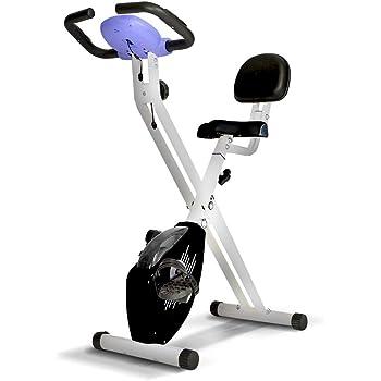 gridinlux. Bicicleta estática Magnética Plegable, Pulsómetro, Rodamientos magnéticos, Pantalla LCD, Resistencia Variable, 8 Niveles de Intensidad, Altura Regulable, Sillín Extra Confort: Amazon.es: Deportes y aire libre