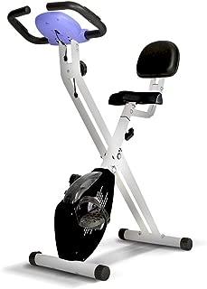 gridinlux. Bicicleta estática Magnética Plegable, Pulsómetro, Rodamientos magnéticos, Pantalla LCD, Resistencia Variable, 8 Niveles de Intensidad, Altura Regulable, Sillín Extra Confort