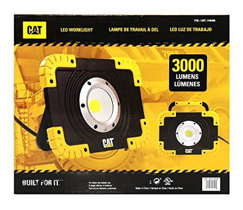 CAT Corded Electric 3000 Lumens LED Job Site Work Light Powered by A/C Cord Only (Not Rechargeable)