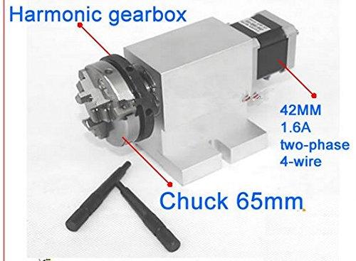 Gowe CNC-4-Achsen (4. Aixs, Drehachse, Trennkopf) für CNC-Router, mit klaplosem Harmonik-Getriebe