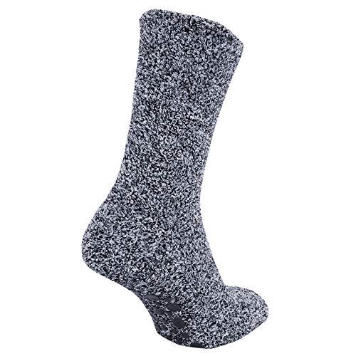 FLOSO® Warme Herren-Socken mit rutschfestem Gummi, Gr. 39,5–47, Marineblau
