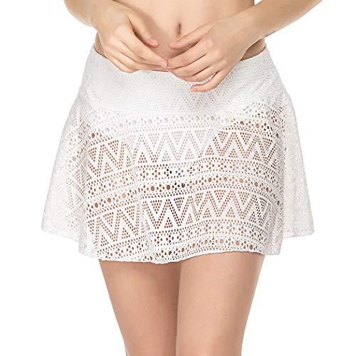 Balancora Badshorts met UV-bescherming voor dames, sneldrogend, sportbikini met rok kanten strandrok S-XXL