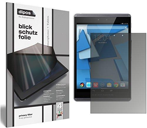 dipos I Blickschutzfolie matt kompatibel mit HP Pro Slate 8 Sichtschutz-Folie Bildschirm-Schutzfolie Privacy-Filter