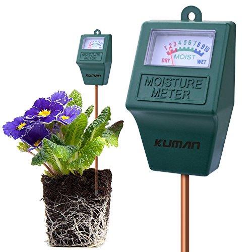 Kuman - Misuratore dell\'umidità del suolo S10, igrometro per terreno, per giardino, fattoria, piante da prato, da interno ed esterno (non necessita di batteria), codice KP02