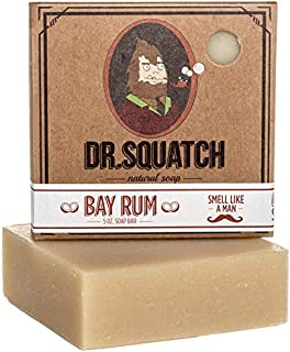 Bay Rum Soap by Dr. Squatch – Bar Soap for Men with Natural Scent, Bay Rum, Kaolin..
