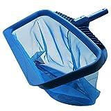 Hochleistungs-Deep-Bag-Poolrechen, Schwimmblattskimmer-Netz mit mittelfeinem Netz, Schwimmbad-Reinigungsnetz Poolblatt undicht Schwimmbad-Poolreinigungsblatt-Gitterwerkzeug