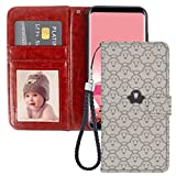 Wallet Case for Samsung Galaxy S6 Edge Plus Cartoon Goat Smiley Face Phone Cover TPU Soft Edge Internal Case and PU Leather Outer Case with Card Slot Magnetic Buckle Flip Case