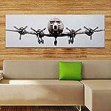 N / A Pintado a Mano Big Airplane Art Painting Pintura de la Pared en la Lona usada para la decoración casera del Dormitorio sin Marco 30x90cm
