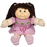 Cabbage Patch Kids Vintage Retro Style Yarn Hair Doll - Original Brunette Hair/Brown Eyes, 16' - Amazon Exclusive - Easy to Open Packaging