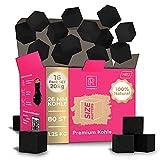 M. ROSENFELD - 20 KG - Grillbrikett Kohle für Grill Kokosnuss – 16 Pack 26mm 100% natürliche Kokos-Kohle für Grillen im Vorteilspack - Hochwertige Kokos - Kein Tropenholz - Lange Brenndauer (20 KG)